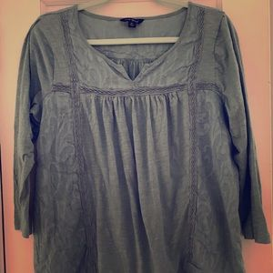 Lucky Brand Soft Thin Cotton Top Size Xl